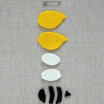 pic of the template to make a bee pin