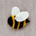 Step 3 of template for Bee pin