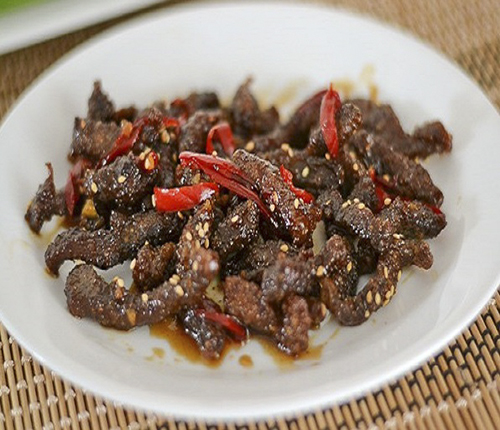 Crispy Chilli Beef With Honey